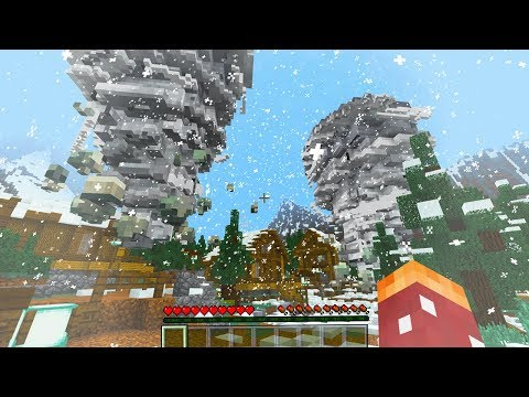MINECRAFT NATURAL DISASTER SIMULATOR *ENTIRE TOWN DESTROYED*