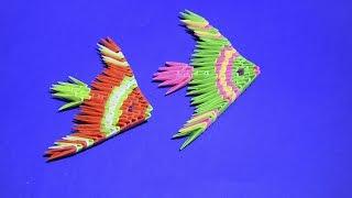 МОДУЛЬНОЕ ОРИГАМИ для начинающих рыбка Скалярия (рыба) мастер класс