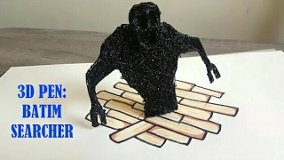 3D Pen - Drawing Bendy And The Ink Machine Searcher Ink Monster!