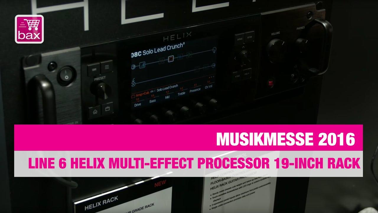 Download Line 6 Helix multi-effect processor 19-inch rack - Musikmesse 2016
