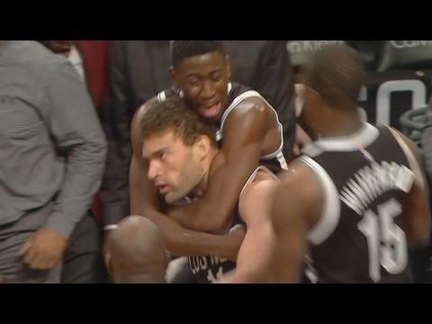Brook Lopez Game Winner Buzzer Beater! Pistons vs Nets