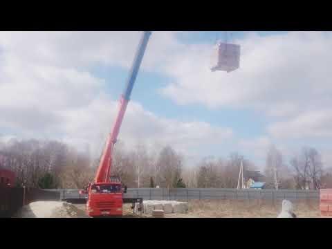 Работа автокрана Клинцы 25 тонн, стрела 30,7 м. На базе КАМАЗ