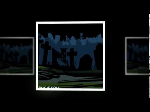 Abecedario de Cementerio Animado | Cemetery ABC Halloween Display Pictures