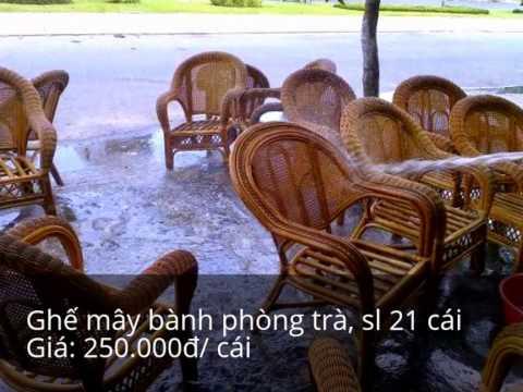 Thanh lý bàn ghế quán ăn, bàn ghế giả mây cafe cũ TpHCM