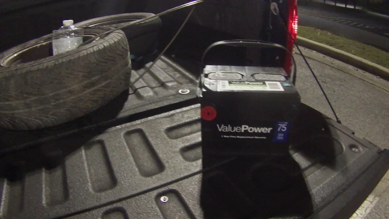Walmart $49 new auto battery in 01 Deville