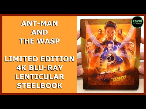 ANT-MAN AND THE WASP - LIMITED LENTICULAR EMBOSSED 4K BLU-RAY STEELBOOK UNBOXING - ZAVVI EXCLUSIVE