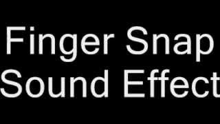 Finger Snap Sound Effect Noise Ear Hear Pop Popping Listen Audio