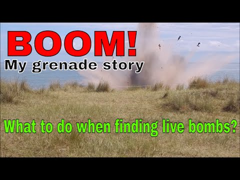 WWII Hand Grenade Found & Blown Up Live! - Lowestoft - Metal Detecting Educational Video