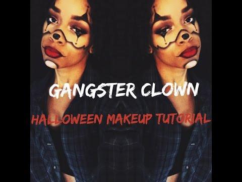 GANGSTER CLOWN Halloween Makeup Tutorial| Inspired by Chrisspy thumbnail