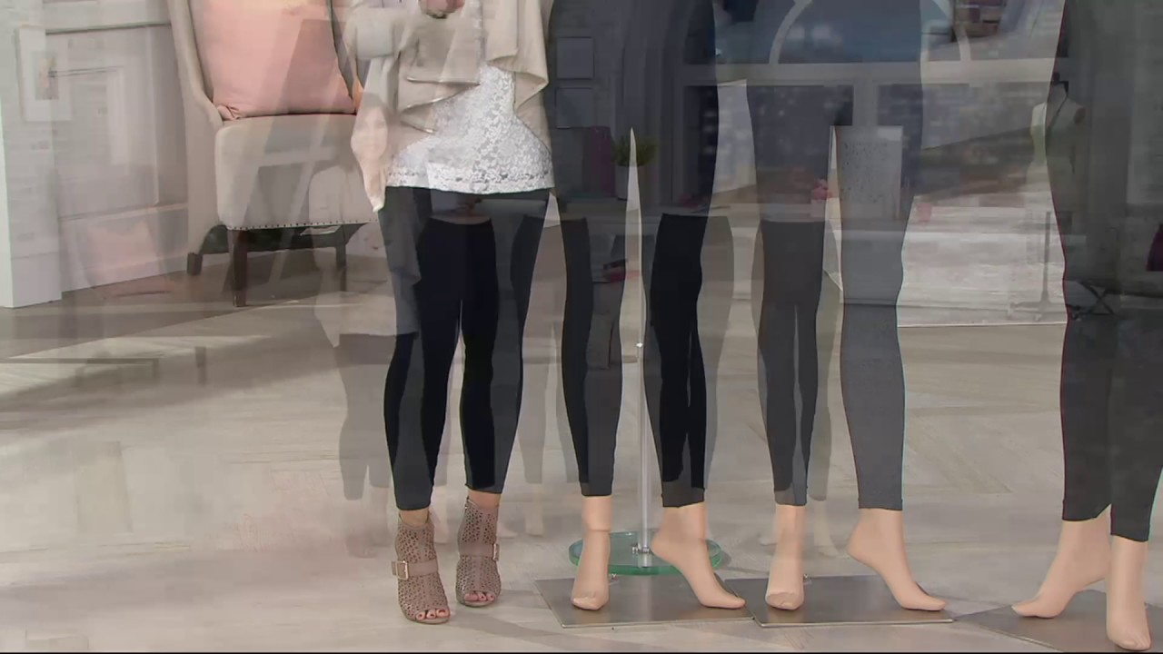 2544acbe5222e Spanx Look at Me Now Seamless Leggings on QVC - YouTube