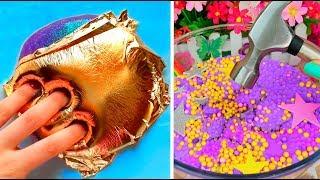 Очень залипательно № 1 Слайм АСМР МОЯ КОЛЛЕКЦИЯ / Satisfying Slime ASMR Video