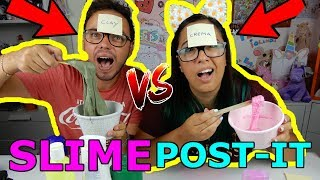 SLIME CON INGREDIENTI MISTERIOSI tra FIDANZATI! POST IT SLIME CHALLENGE! Iolanda Sweets