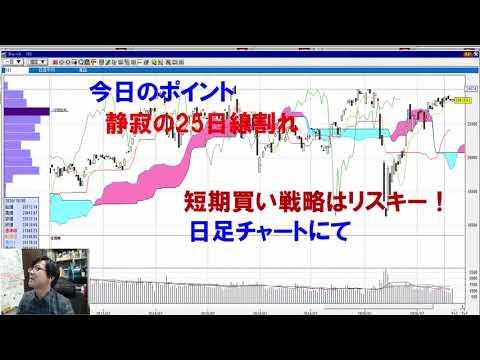 【株式投資】静かに25日線下抜けも売買代金は復調の兆し