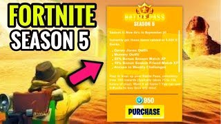 *NEW* SEASON 5 BATTLE PASS TRAILER & THEME + NEW MAP LEAKS! (Fortnite Season 5 Battle Pass)