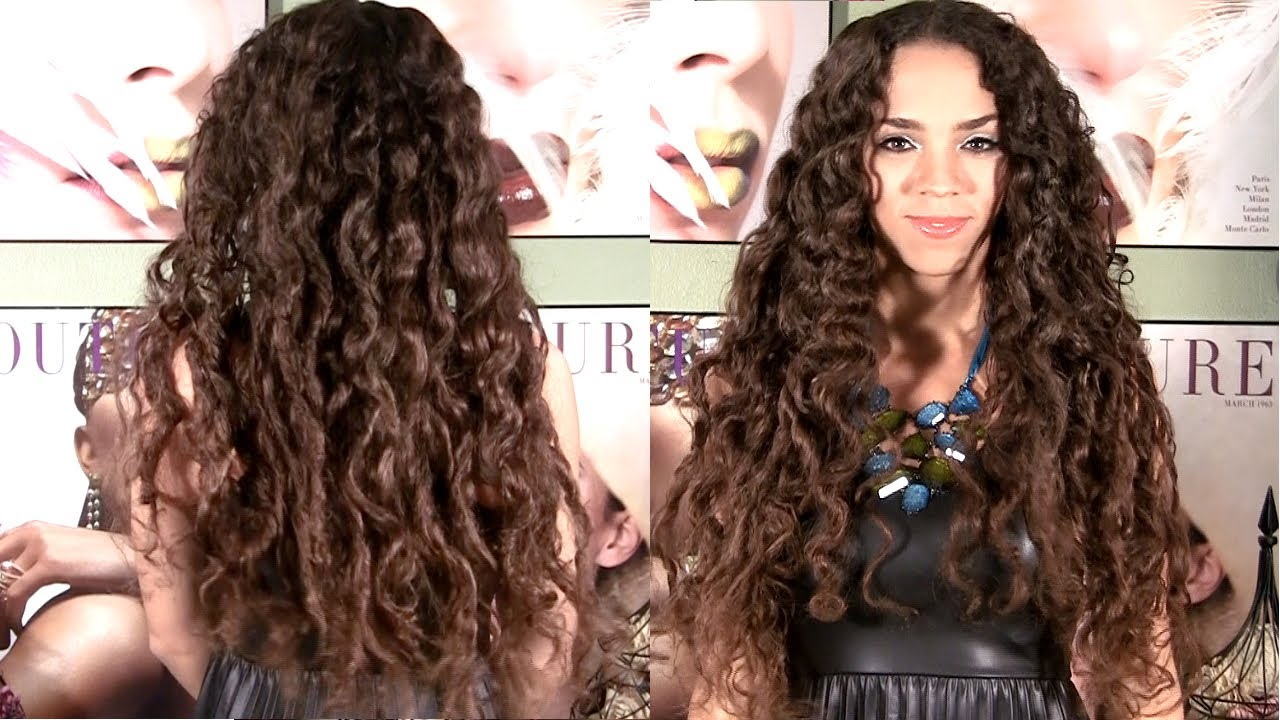 How To Style Curly Hair Without Heat No Heat Curls  Curls Without Heat Hair Tutorial  No Braids Or .
