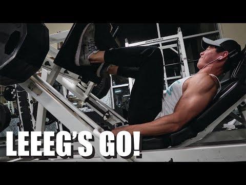 Massive Leg Workout & Golf || Treino Monstro de Perna & Golfe