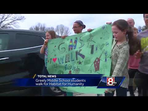 Greely Middle School students raise thousands for Habitat for Humanity
