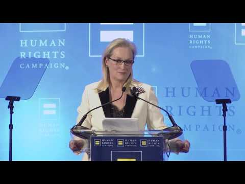 Ken Burns Presents Meryl Streep with HRC's National Ally for