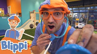 Blippi Visits An Indoor Play Place! | Learn For Kids With Blippi | Educational Videos for Toddlers
