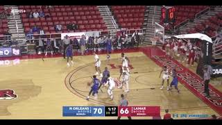 Highlights of MBB win over Lamar