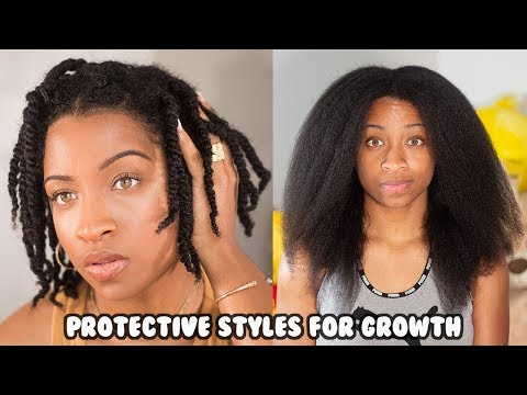 how-i-used-protective-hairstyles-to-grow-my-short-natural-hair!-|-type-4