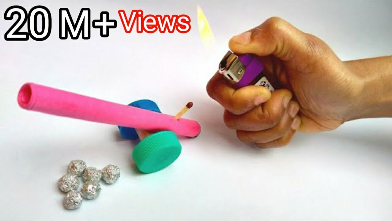 How to make a cannon || DIY powerful paper cannon || DIY toys
