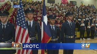 CBS 11 Pep Rally: Central High School JROTC