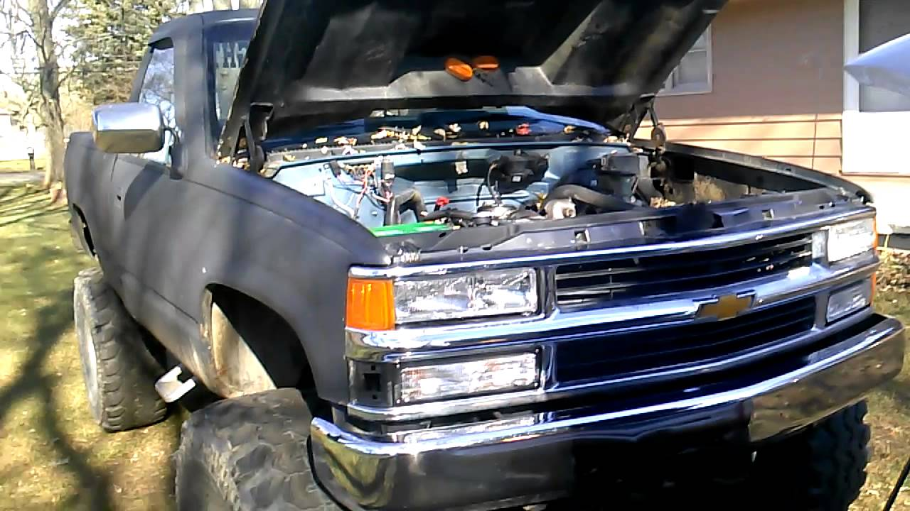 1988 shot bed lifted chevy - YouTube