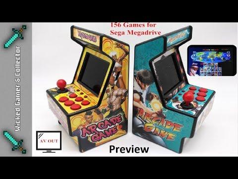 Sega Megadrive 16 Bit Mini Retro Arcade Machine 156 In 1