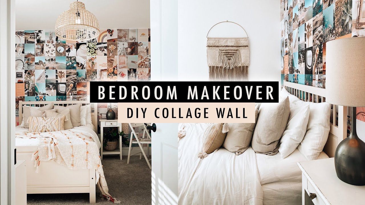 BEDROOM MAKEOVER + DIY Collage Wall (Part 1) | XO, MaCenna