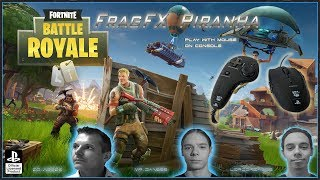 FORTNITE SAISON 6 BATTLE ROYAL - FRAGFX PIRANHA PS4 PRO GAMING MOUSE 🖱️ - Sony officially licensed