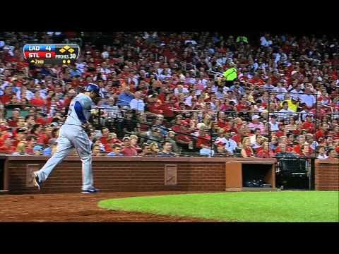 2013/08/08 Dodgers' six-run second