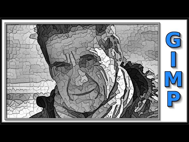 Gimp 2.10.2: Black and White Portrait in Cartoon Like Comic Book Style