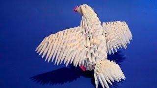 МОДУЛЬНОЕ ОРИГАМИ голубь маленький (голубенок) мк