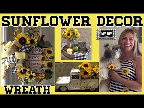 sunflower-decorations-|-sunflower-wreath-tutorial-dollar-tree-|-easy-diy!