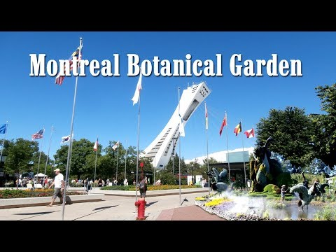A day in Montreal Botanical Garden and Sculpture Park. Canada