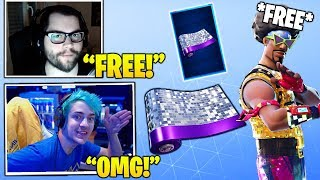 Streamers Unlocks & Reacts to NEW *FREE* Disco Wrap Weapon Skin! (Funk Ops Style!) Fortnite Moments