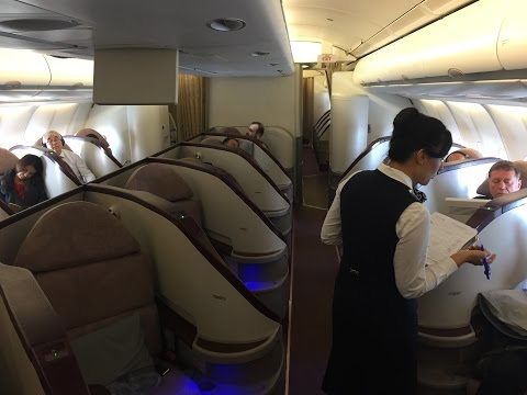 Turkish Airlines (Jet Airways)  Airbus A330-200 Business Class Review (Herringbone Seating)