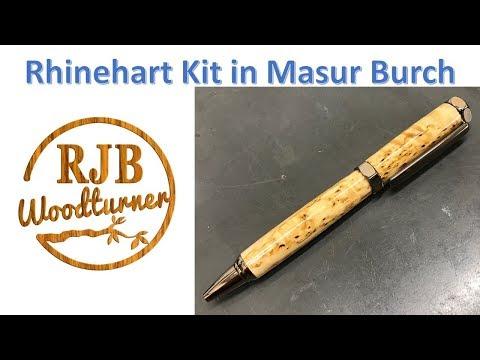 Turning A Rhinehart Pen Kit in Masur Burch