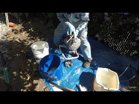 1/3: Cleaning the Harbor Freight paint sprayer system - Cleaning the main system