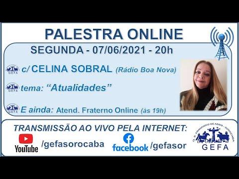 Assista: Palestra Online - c/ CELINA SOBRAL (08/06/2021)
