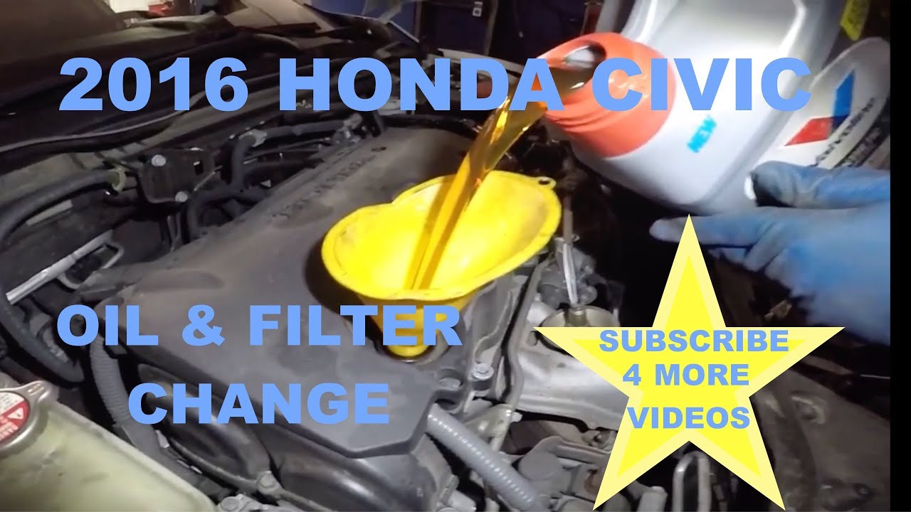 2016 Honda Civic Oil Filter Change