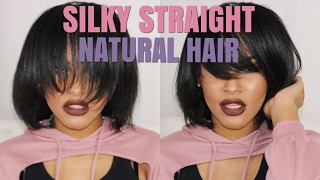 How To: Straightening My Natural Hair! Silky Straight Natural Hair | Bone Straight. BeautyByCarla