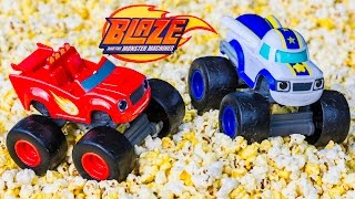 BLAZE AND THE MONSTER MACHINES Nickelodeon Blaze Popcorn Adventure a Blaze Video Parody