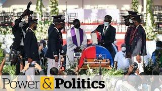 Gunshots fired outside funeral for slain Haitian president