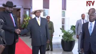 EMIREMBE MU SOUTH SUDAN: Museveni, Bashir, Machar ne Kiir basiibye mu kafubo thumbnail