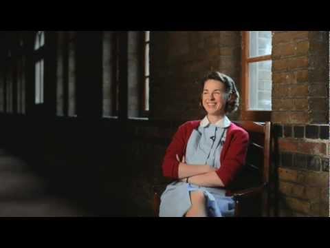 Jessica Raine Jenny Lee on bikes  Call the Midwife Series 2