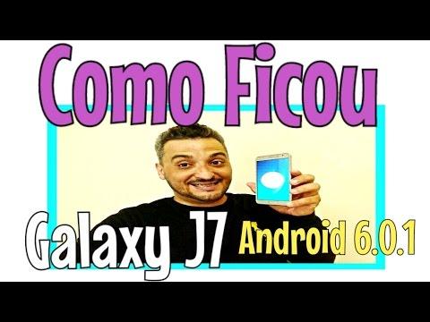 Vlog Atualização do Galaxy J7 Android Marshmallow 6.0.1 em Português