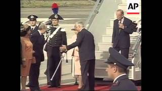 ITALY: QUEEN ELIZABETH II AND PRINCE PHILIP MAKE FIRST VISIT
