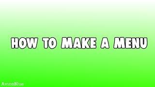 ROBLOX   How to Make a Menu GUI Tool